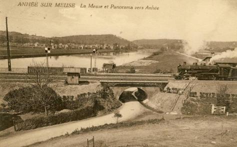 Meuse,Train a vapeur,Anhée,Panorama