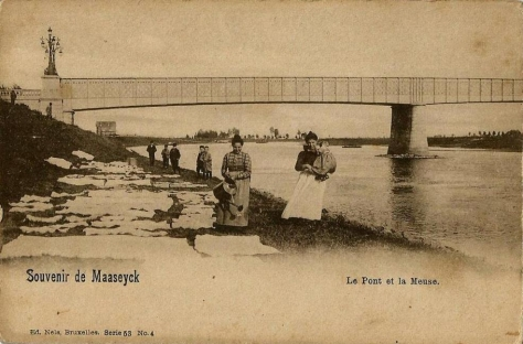 Maaseyck,meuse,pont,animee,carte,carte postale