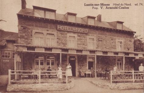 Lustin,hotel du nord,meuse,animee,carte